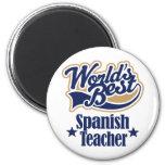 Regalo español del profesor para (mundos mejores) imanes