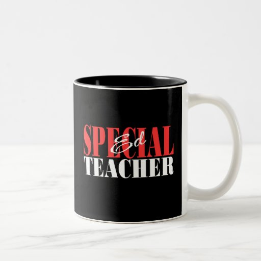 Regalo especial del profesor de Ed Taza De Dos Tonos
