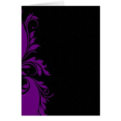 Regalo especial floral púrpura atractivo tarjetas