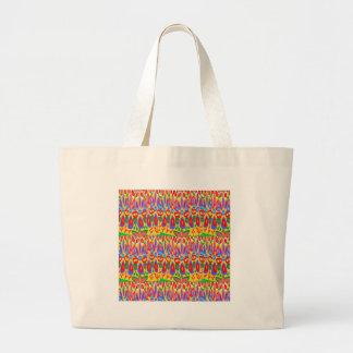 Regalo espiritual abstracto de acrílico colorido bolsa tela grande