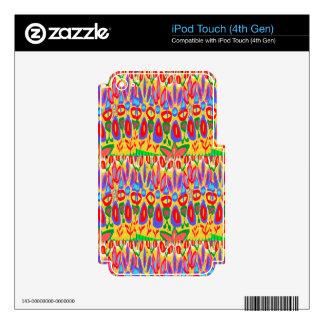 Regalo espiritual abstracto de acrílico colorido calcomanía para iPod touch 4G