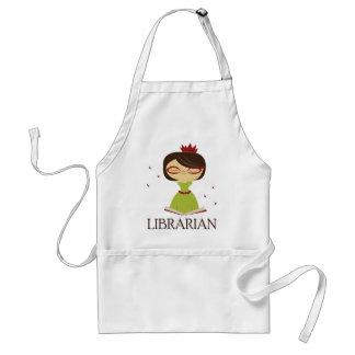 Regalo estudioso de la biblioteca del delantal
