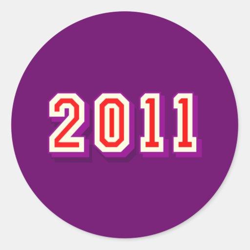Regalo feliz 2011 del logotipo de la Feliz Año Nue Etiquetas