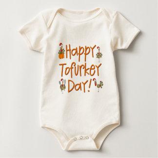 Regalo feliz del día de Tofurkey Body Para Bebé