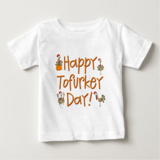 Regalo feliz del día de Tofurkey Playera De Bebé