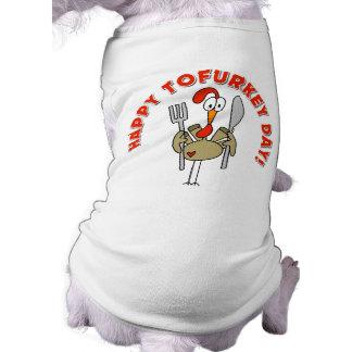Regalo feliz del día de Tofurkey Camisa De Mascota