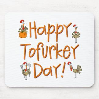 Regalo feliz del día de Tofurkey Tapete De Raton