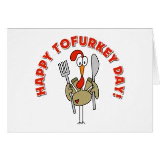 Regalo feliz del día de Tofurkey Tarjeta De Felicitación