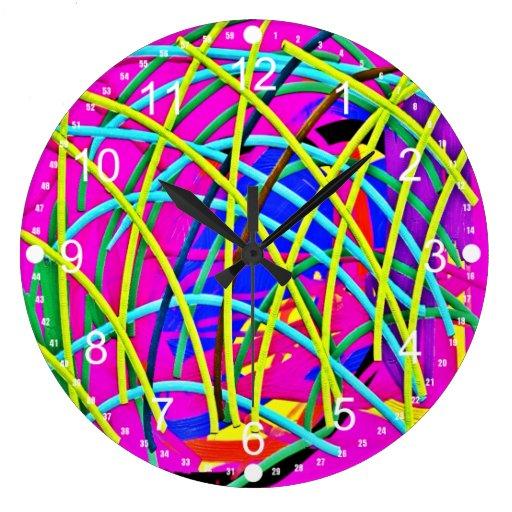 Regalo femenino abstracto de la novedad del diseño reloj