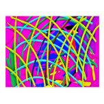 Regalo femenino abstracto de la novedad del diseño postales