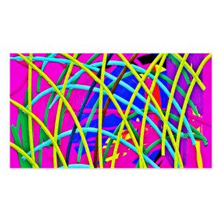 Regalo femenino abstracto de la novedad del diseño tarjetas de visita