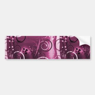 Regalo femenino de color morado oscuro de las vide etiqueta de parachoque