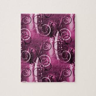 Regalo femenino de color morado oscuro de las vide puzzle
