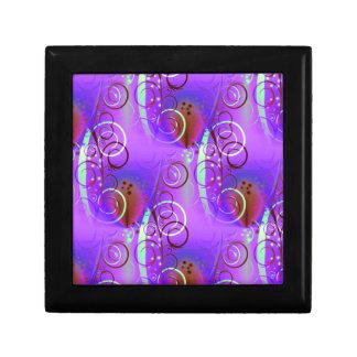 Regalo femenino de la aguamarina de color de malva cajas de joyas