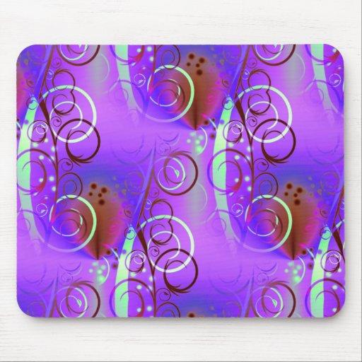 Regalo femenino de la aguamarina de color de malva mousepad