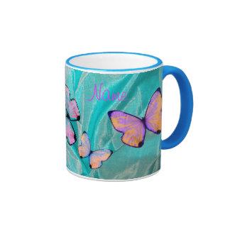 ¡Regalo femenino! ¡La taza de la mariposa, añade N