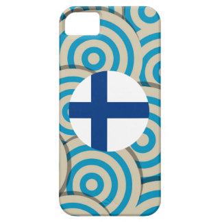 Regalo finlandés femenino de la bandera funda para iPhone 5 barely there