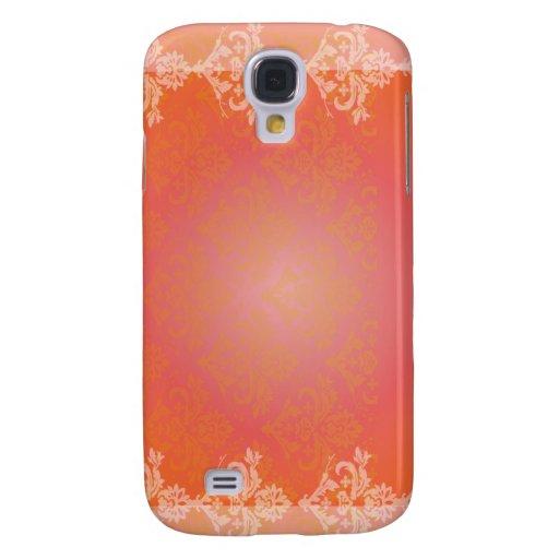 Regalo floral anaranjado elegante simple