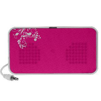 Regalo floral blanco delicioso del remolino iPod altavoz