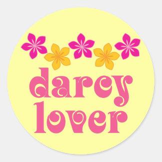 Regalo floral del amante de Jane Austen Darcy Pegatina Redonda