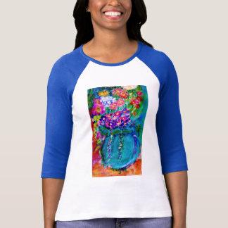 Regalo floral del arte del diseñador caprichoso de camiseta