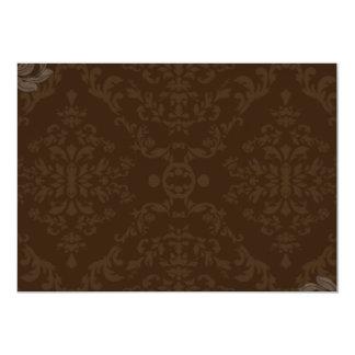 """Regalo floral marrón creativo invitación 5"""" x 7"""""""