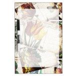 Regalo floral viejo del diseño de las postales del tablero blanco