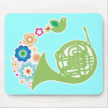 Regalo florido de Mousepad de la música de la trom Alfombrilla De Raton