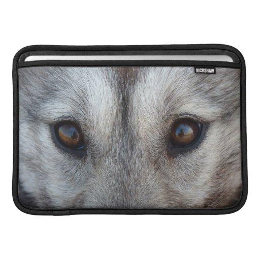 Regalo fornido de la tableta del perro del lobo de fundas para macbook air