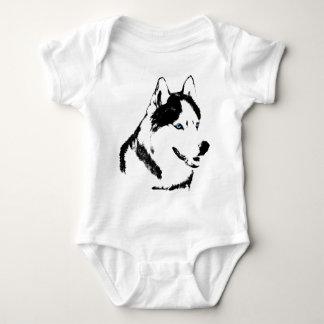 Regalo fornido del perro esquimal del bebé del playeras