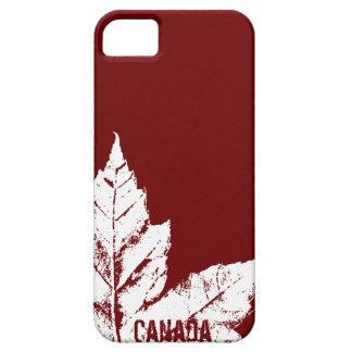 Regalo fresco de la hoja de arce de Canadá del cas iPhone 5 Carcasas