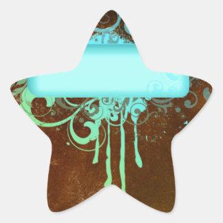 Regalo fresco del goteo de la pintura del cobre pegatina en forma de estrella