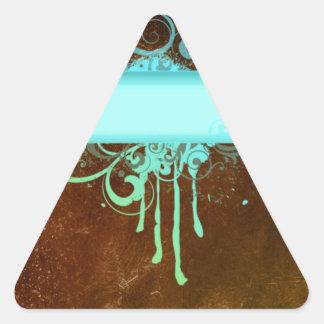 Regalo fresco del goteo de la pintura del cobre pegatina triangular