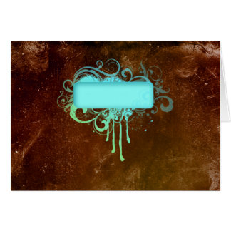 Regalo fresco del goteo de la pintura del cobre tarjeta de felicitación
