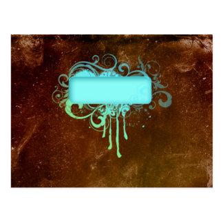 Regalo fresco del goteo de la pintura del cobre postal