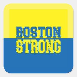 Regalo FUERTE de Boston Calcomanía Cuadradas Personalizada