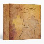 Regalo gay del álbum del boda del vintage de papel