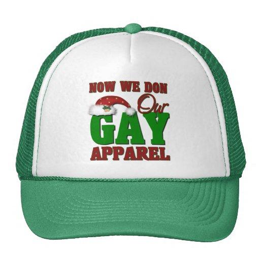 Regalo gay divertido del navidad gorro