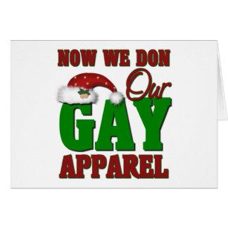 Regalo gay divertido del navidad tarjetón