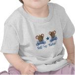 Regalo gemelo lindo de los ratones del muchacho camisetas