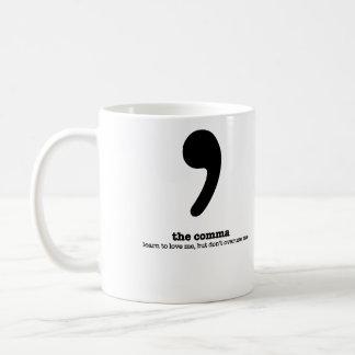 Regalo gramatical del humor de la coma de la taza