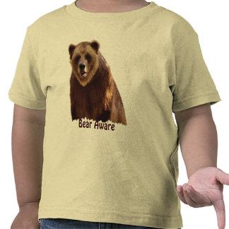 Regalo grande del arte de la fauna del oso grizzly camisetas