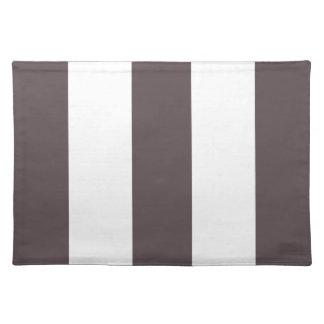 Regalo gris y blanco del chocolate 2012 de la raya manteles