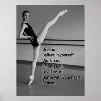 Regalo ideal de la danza para los bailarines póster
