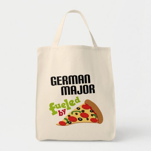 Regalo importante alemán (pizza) bolsa tela para la compra