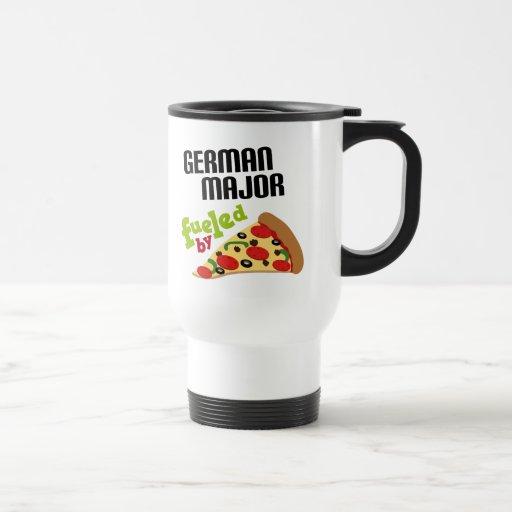 Regalo importante alemán (pizza) taza de viaje de acero inoxidable