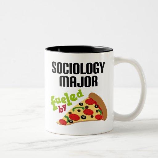 Regalo importante de la sociología (pizza) tazas de café