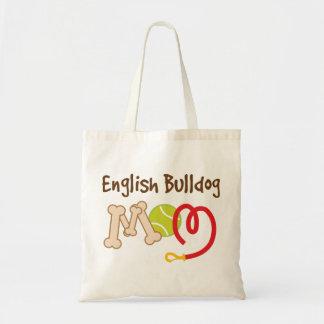 Regalo inglés de la mamá de la raza del perro del  bolsas de mano