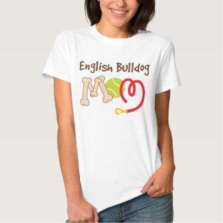 Regalo inglés de la mamá de la raza del perro del remera