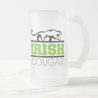Regalo irlandés del puma tazas